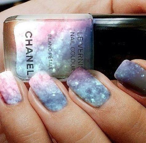 Pastel Galaxy Nails ☆☆