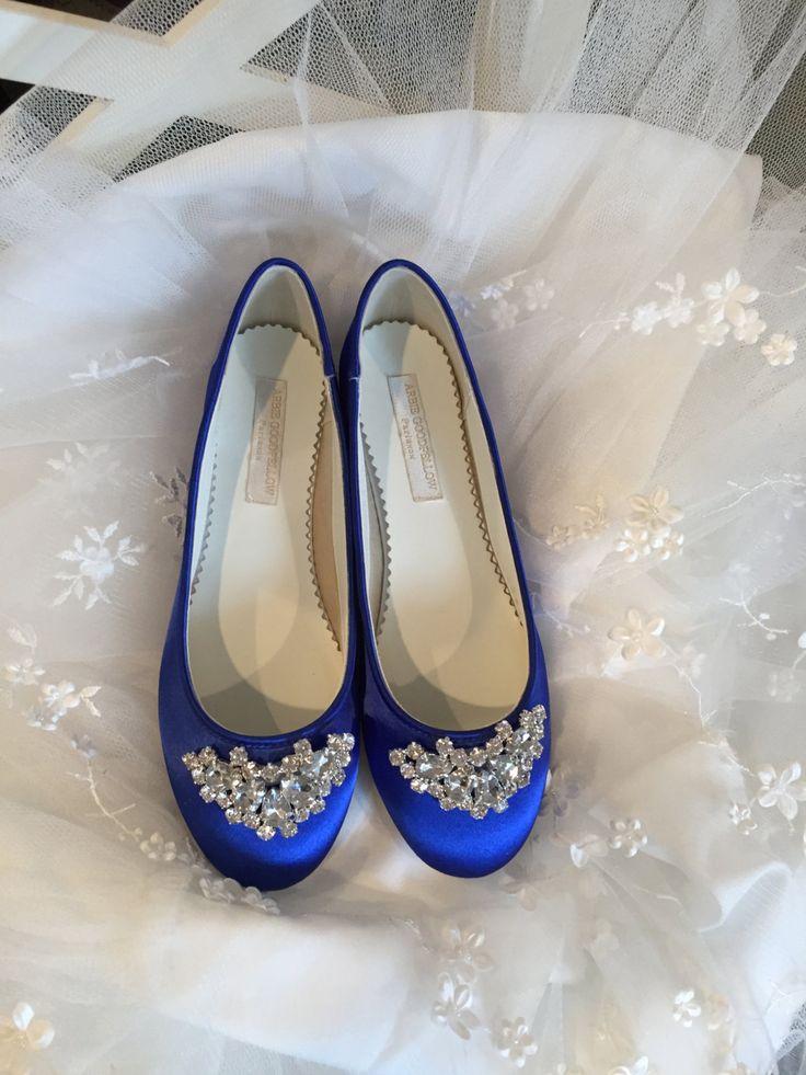 Sapphire Blue Flats - Royal Blue Wedding Shoes - Wedding Shoes - Blue Flats - Blue Wedding Flats  Royal Blue Ballet Shoes - Royal Blue Flats by Parisxox on Etsy https://www.etsy.com/listing/269863571/sapphire-blue-flats-royal-blue-wedding