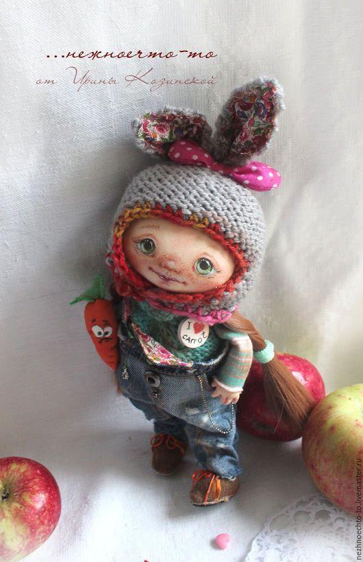 Коллекционные куклы ручной работы. Ярмарка Мастеров - ручная работа. Купить Зая.. Handmade. Кукла ручной работы, текстиль, пастель