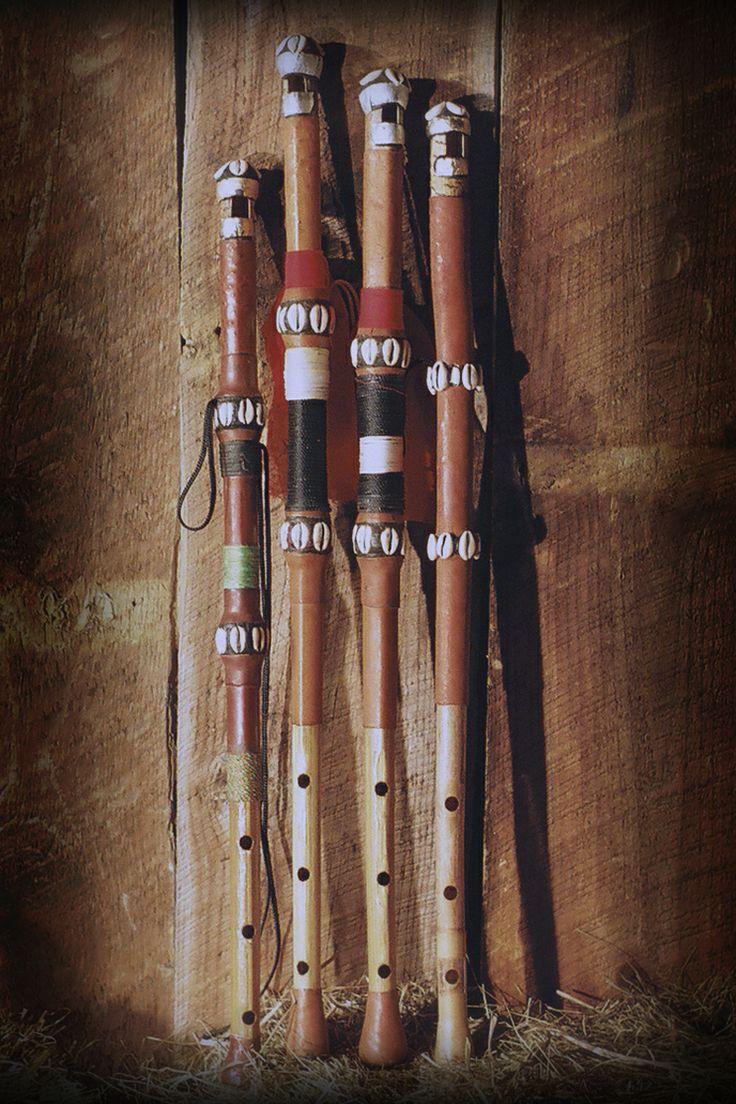 Traditional Fulani flutes (tambin) available at kassaflutes.com