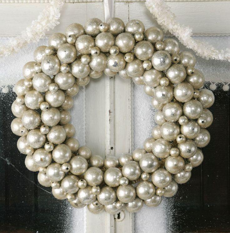 white ornament wreath