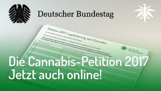 Mit dieser Petition wurde die vollständige Legalisierung von Cannabis unter Beachtung von Jugendschutz, Prävention, Verbraucherschutz und Qualitätskontrolle gefordert.... https://epetitionen.bundestag.de/content/petitionen/_2017/_09/_25/Petition_73900.html