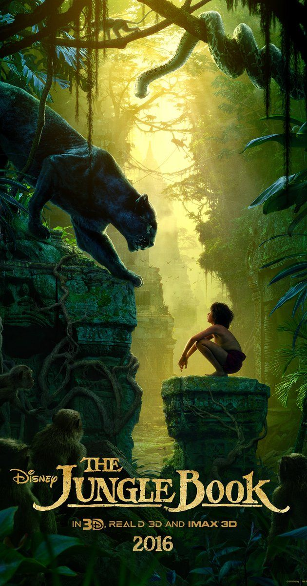 Directed by Jon Favreau.  With Scarlett Johansson, Idris Elba, Bill Murray, Ben Kingsley. An orphan boy is raised in the jungle with the help of a pack of wolves, a bear, and a black panther.
