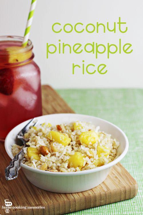 Coconut Pineapple Rice (easy side dish recipe) #SuccessRice #ad