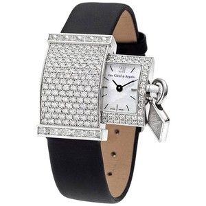 Preowned Van Cleef & Arpels Lady's White Gold Diamond Pavé Secret Wristwatch
