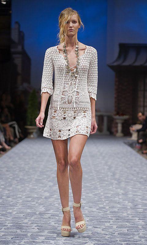 Handmade lace crochet dress replica fashion style от romayacrochet