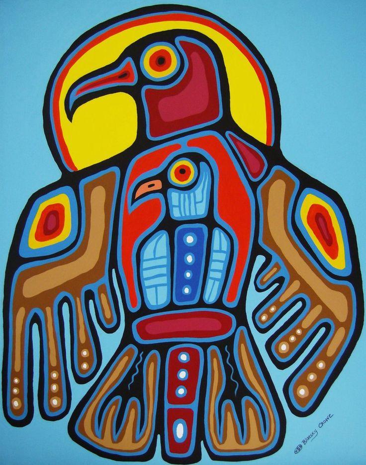By artist Bluesky Crowe | First Nation Artist  kp