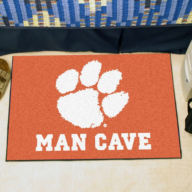 Collegiate Clemson University Man Cave Starter Area Rug