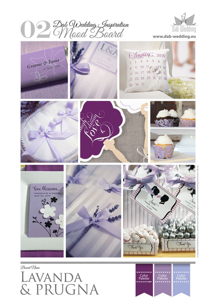 A moodboard inspiration with lavender