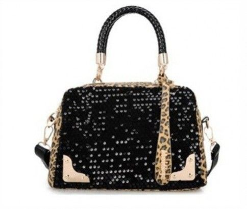 Leopard Grain Sequins Handbag. Sport the design on your shoulder! Just $37 delivered.