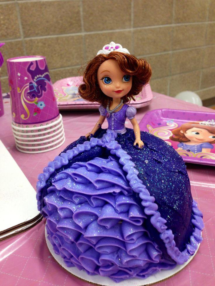 Princess Sofia Cake With Images Princess Sofia Cake