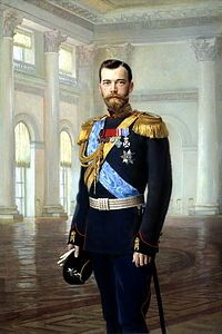Winter Palace - Nicholas II, last Tsar of all the Russias, in the Nicholas Hall. Portrait by Earnest Lipgart, early 1900s.