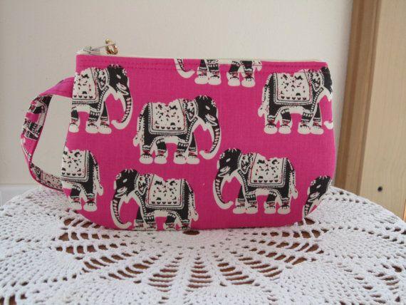 Smart phone Elephants on Pink Case Gadget by Antiquebasketlady