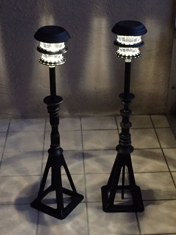 You might want to grab a cheap solar light at Lowe's when you see this awesome patio lighting idea: