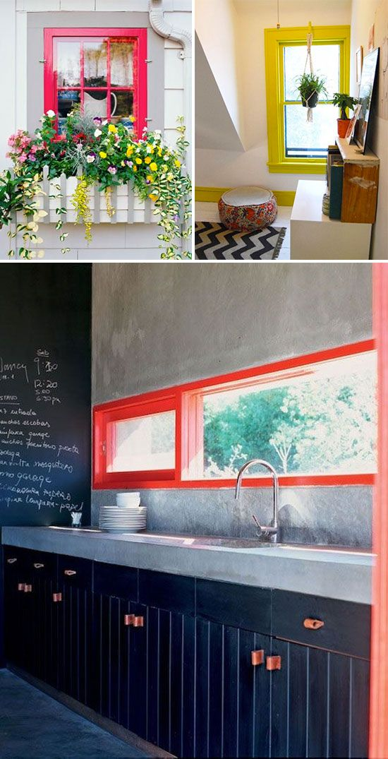 Trend to try: Brightly colored window frames