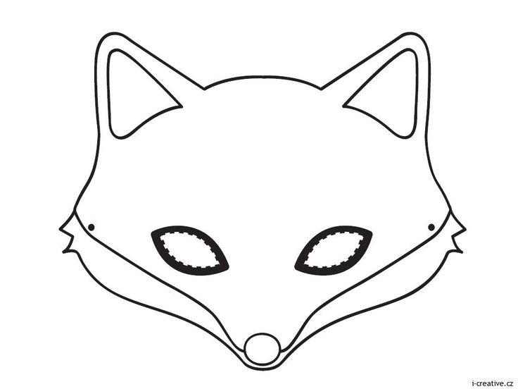 karnevalová maska liška