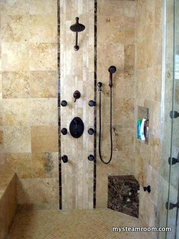 custom tile shower bathrooms closets pinterest