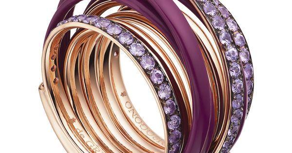 ALLEGRA Purple Ceramic and Amethyst Ring   De Grisogono   О   Pinterest   Керамика, Розы и Кольца из аметиста
