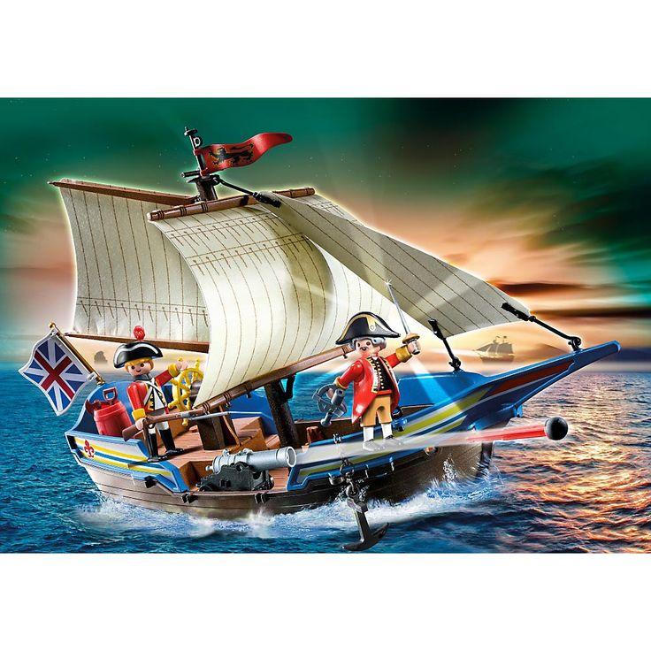 Playmobil Piraci Fregata z armatą czerwonych kurtek, 5140, klocki
