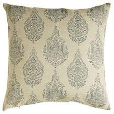 Rambagh Woven Paisley Pillow - Blue