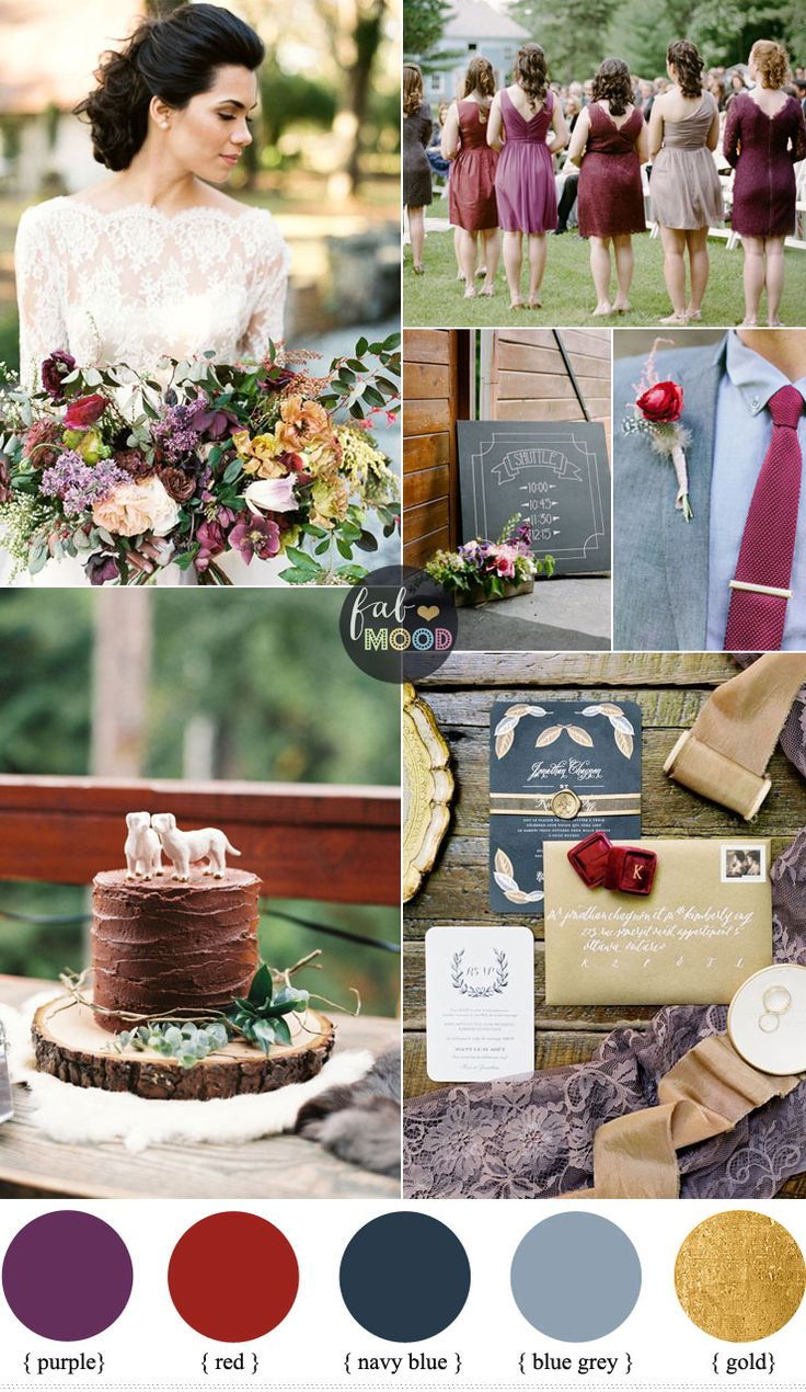A Stylish Rustic Autumn Wedding Theme In Shades Of Colours