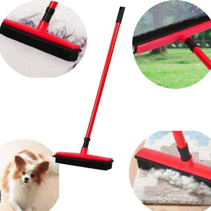 Portable Floor Dust Mop Hair Broom Sweeper Carpet Cleaner