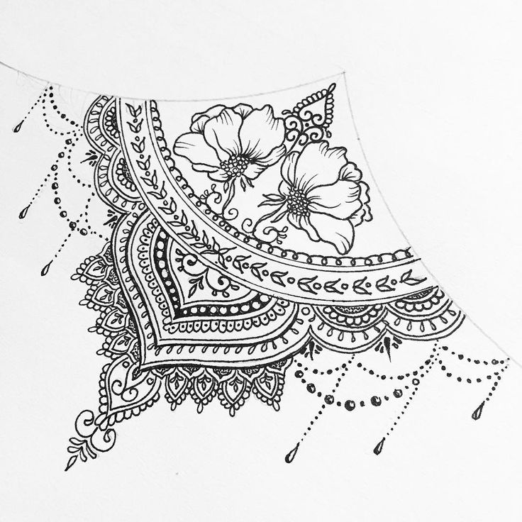 Sternum for Ella (ALL DESIGNS ARE SUBJECTED TO COPYRIGHT) #mandala #sternum…