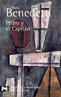 """És una obra de teatre explicada en quatre parts que intenta comprendre una de les manifestacions de la violència engendrada per sistemes polítics repressius, el tens diàleg entre víctima i botxí, que es desenvolupa en una sala d'interrogatoris i que constitueix la matèria literària de Pedro y el Capitán (1979) és """"una indagació dramàtica en la psicologia del torturador"""" a la que una objectivitat rigorosa allunya del maniqueisme. Em va marcar l'adolescència. Fascinant."""