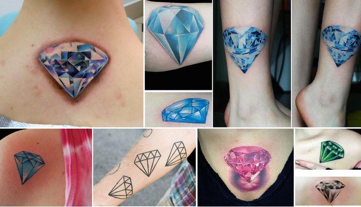Tatuagem de diamante: significados e fotos