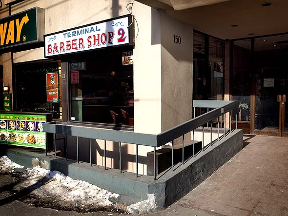Best barber shop in the city: Terminal Barber Shop 2 on Dundas, and the original Terminal Barber Shop at Bay & Dundas.