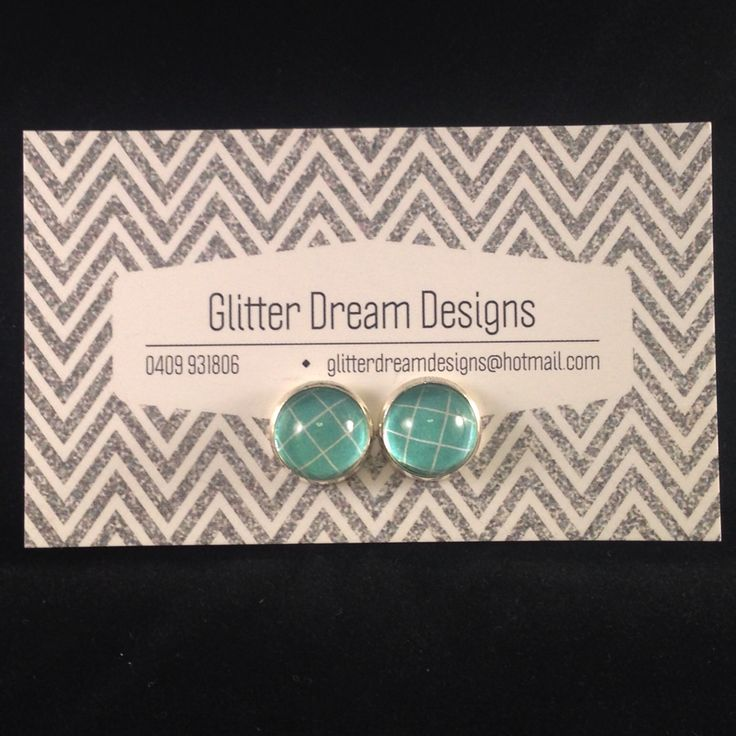 Order Code D17 Green Cabochon Earrings