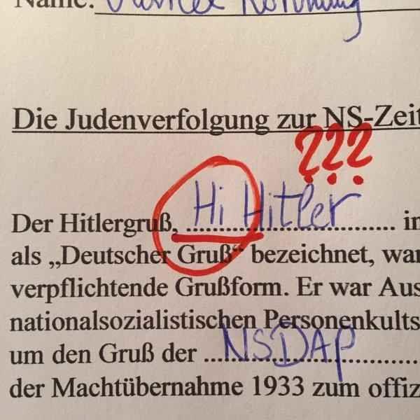 """""""Der Hitlergruß Hi Hitler …"""""""