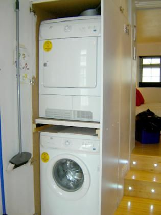Washing machine, Separate  dryer, Iron / ironing board, Central Heating, Electric fans