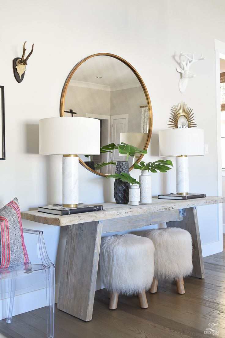 Foyer Table With Stools : Best ideas about entryway console table on pinterest