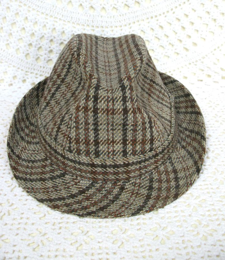 Mens Trilby Hat - Tweed Style Hat - Wool Hat - Country Hat - English Gentleman - Country House - Vintage Trilby - Retro Trilby - Old Hat by MissieMooVintageRoom on Etsy