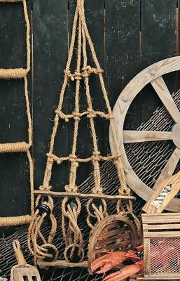 """Rope Ladder Pirate Ships Crows Nest Home Decor 45"""" NEW 
