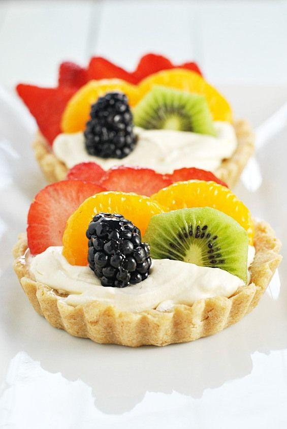 Rainbow Fruit Tartlets | www.somethingswanky.com