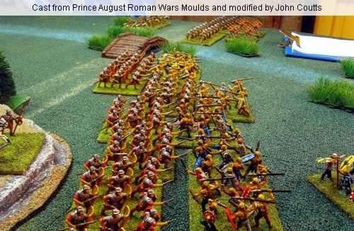 Roman Wars figures cast from our moulds and modified by John Coutts