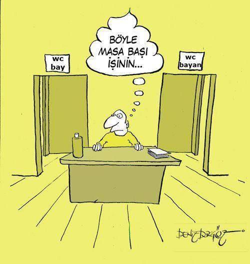 Böyle masa başı işinin...  #karikatür #mizah