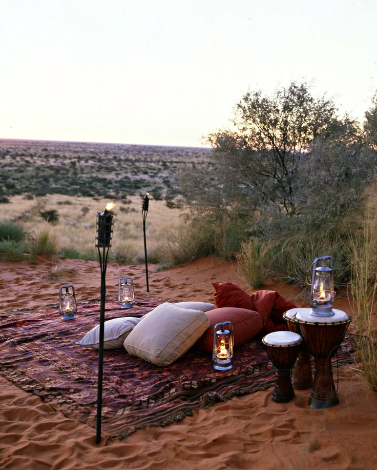 Special treats and spoils from Tswalu Kalahari - a private picnic out in the reserve. http://www.go2africa.com/accommodation/7977/at-a-glance/motse-lodge