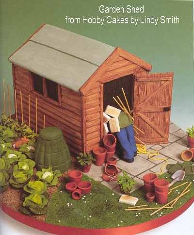 Garden Shed from Hobby Cakes  by Lindy Smith
