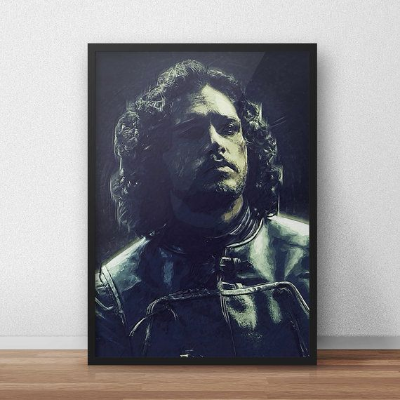 John Snow  John Snow poster  Game of Thrones  by TroutLifeStudio