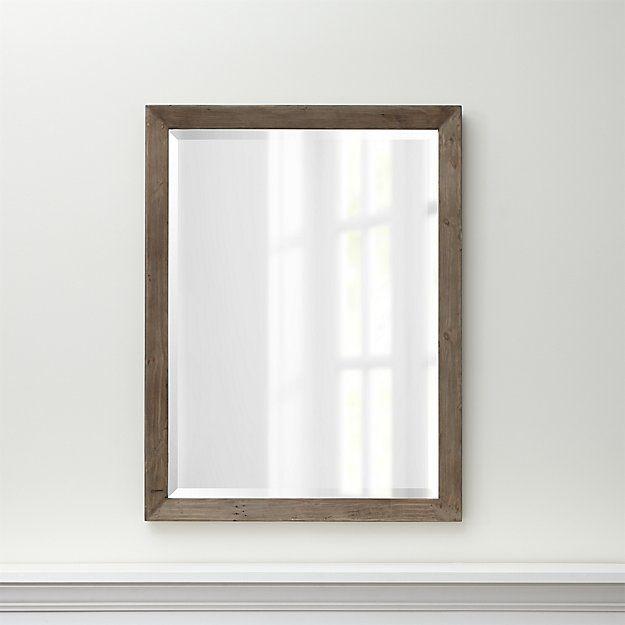Morris Ash Grey Wall Mirror   Crate and Barrel