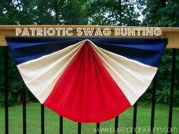 how to make bunting swags - Google Search