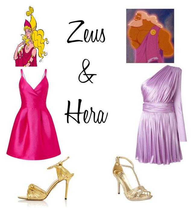 """Zeus & Hera ~ Hercules"" by miahadams ❤ liked on Polyvore featuring Hera, FAUSTO PUGLISI, Miss Selfridge, Ellie and Charlotte Olympia"