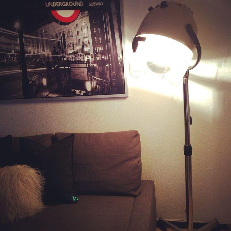 Secador de pelo vintage...ahora lámpara #reciclando #DIY
