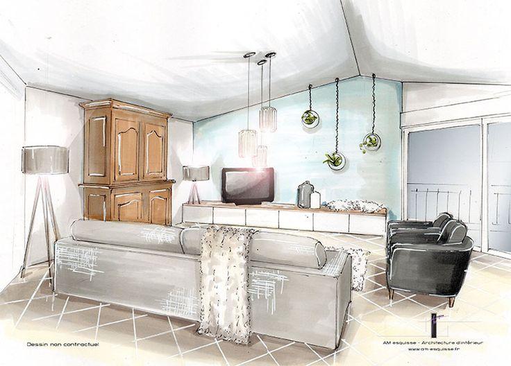 les 25 meilleures id es concernant croquis d 39 int rieur sur. Black Bedroom Furniture Sets. Home Design Ideas