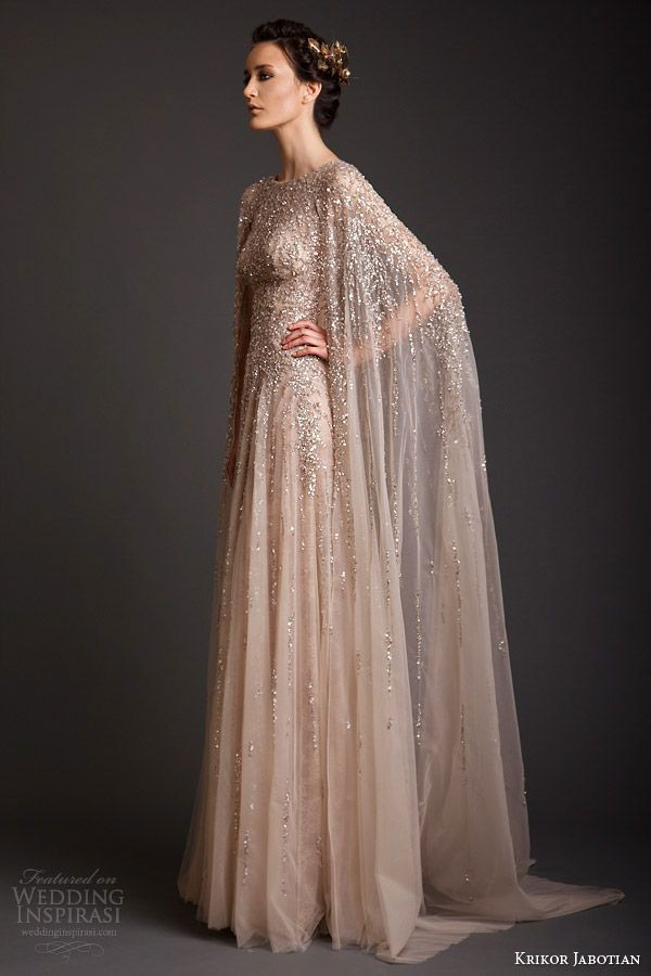 Krikor Jabotian shimmering gold gown // The Wedding Scoop Spotlight: Sparkly Wedding Dresses - Part 2
