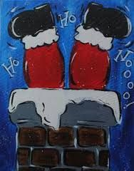 Image result for christmas paintings on canvas                              …
