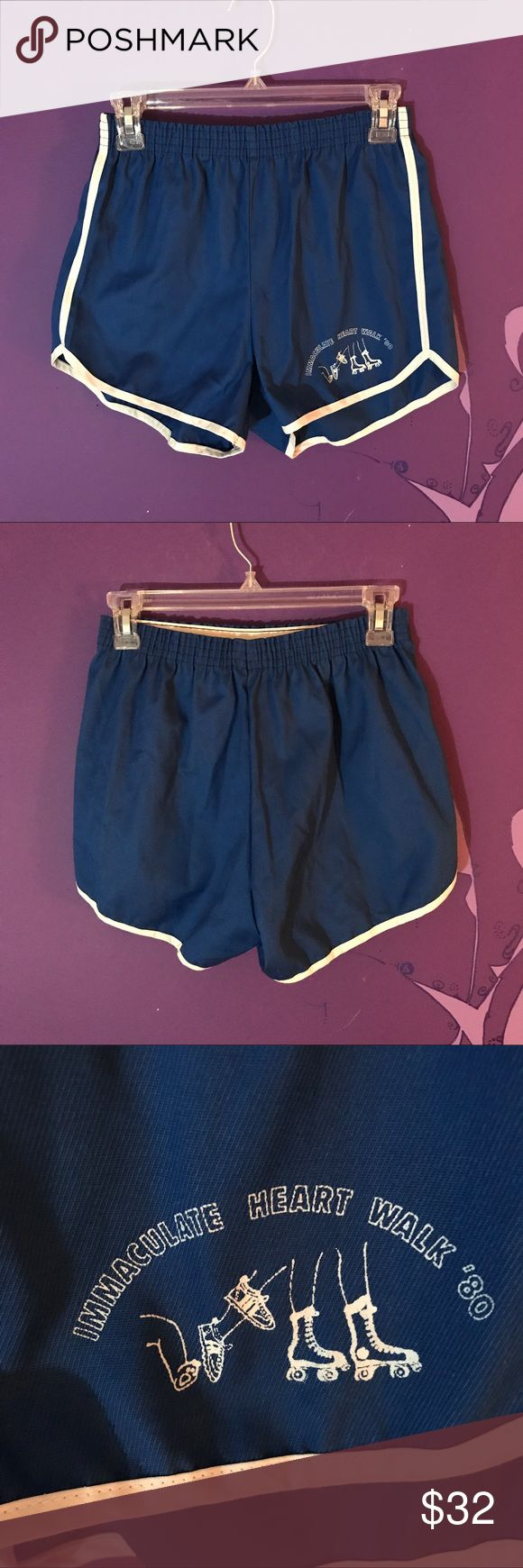 Vintage athletic shorts 1980 retro skate exercise Who wants to go roller skating?!? Take a look at these vintage blue athletic shorts from 1980!! Couldn't find too much on the immaculate heart walk but these are cute. Size medium. Fits small. LINK IN BIO!!! #shorts #fashion #womensshoes #womensfashion #womensclothing #menswear #mensfashion #mensclothing #unisex #rollerskate #vintage #retro #disco #80s #1980 #heart #walk #athletics #exercise #health #smallbusiness #forsale #depop #ebay…